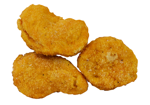 CHICKEN NUGGETS COOKED BREAST MEAT