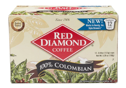 COFFEE 100% COLOMBIAN K-CUPS